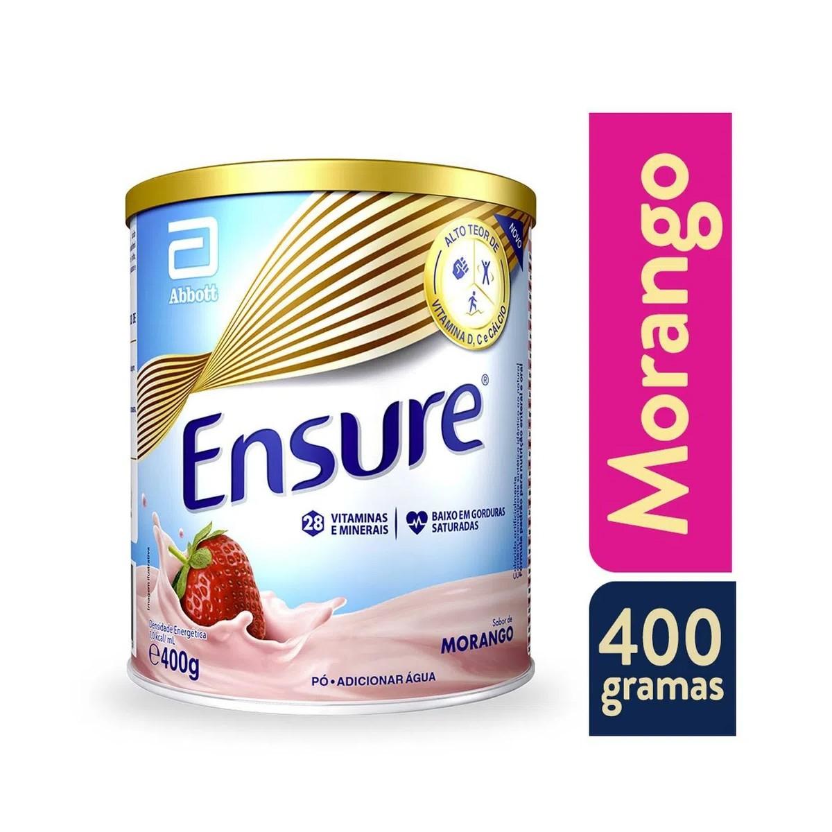 Ensure Morango 400g - Suplemento Alimentar