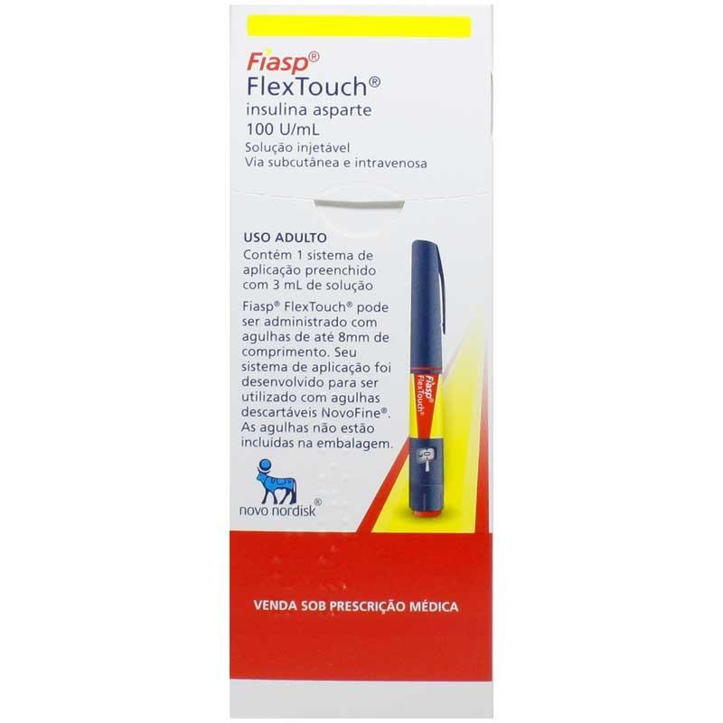 Insulina Asparte Fiasp Flextouch 100U/mL com 3mL