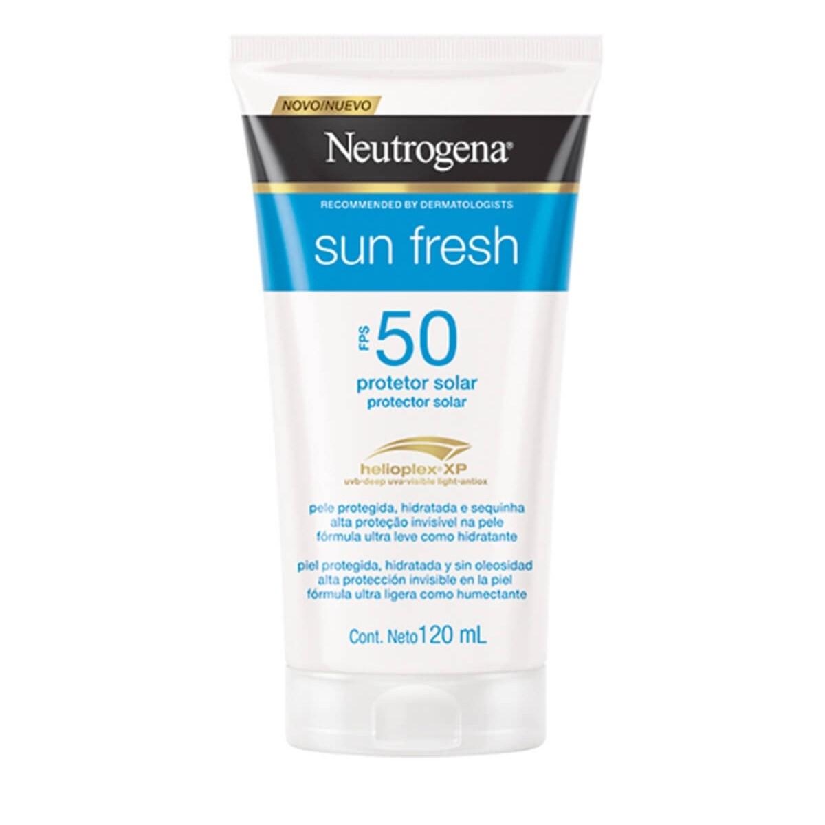Protetor Solar Neutrogena Sun Fresh FPS50 com 120mL