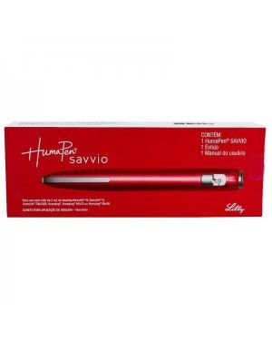 Caneta Aplicadora de Insulina Humapen Savvio Vermelha