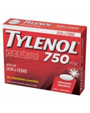 Tylenol 750mg com 20 comprimidos